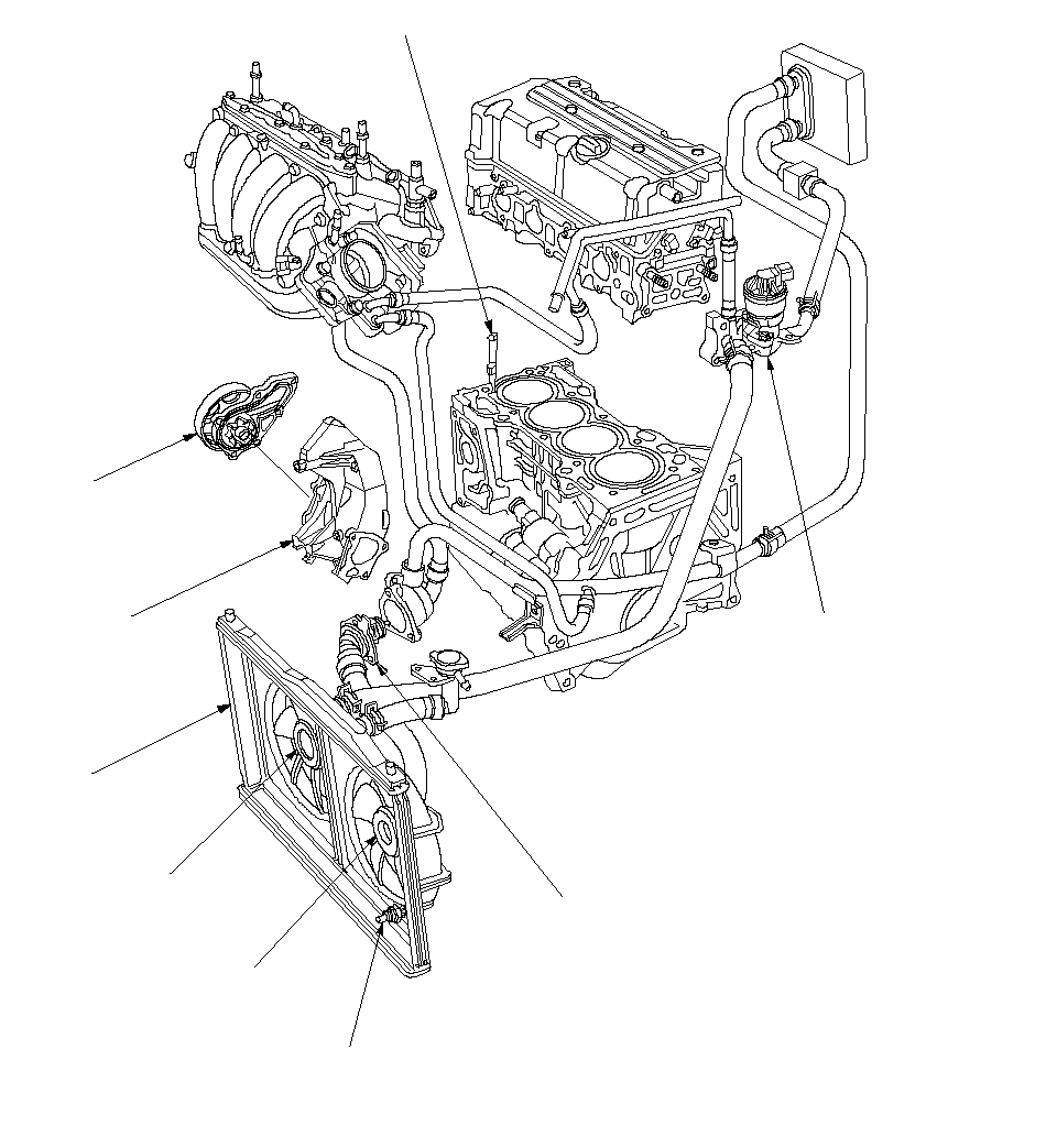 Engine Coolant Temperature Sensor Location  Diagrams